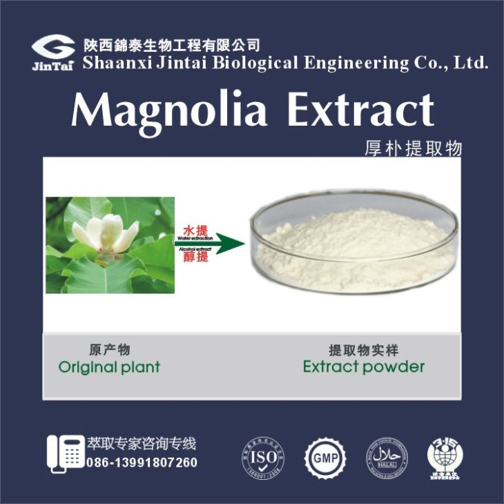 Natural magnolia extract/ magnolia bark extract/ Magnolol/Honokiol for sale